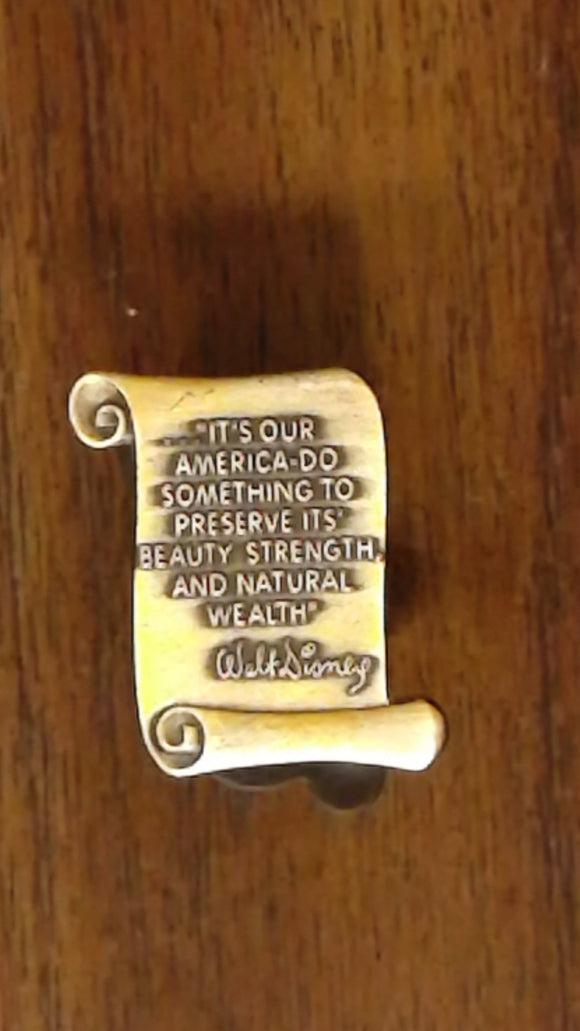 Pin 7687 WDW - Walt Disney Scroll Quote #2 (It's Our America...)