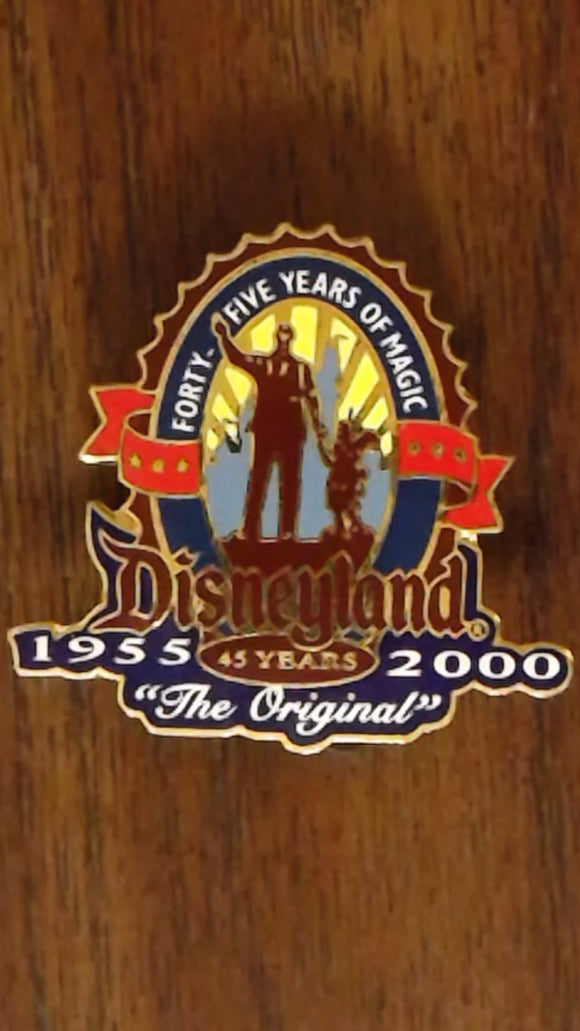 Pin 1287 Disneyland 45th Anniversary LE Set 'Partners Logo'