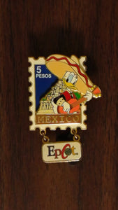 Pin 9322 EPCOT Stamp Pin Series #1 - Mexico (Donald)