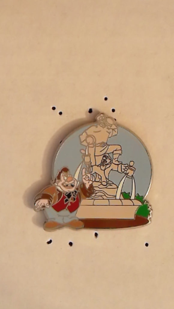 Pin 94077 WDW - New Fantasyland - Beauty and the Beast Mystery Collection - Lefou at Gaston and Lefou Statue ONLY