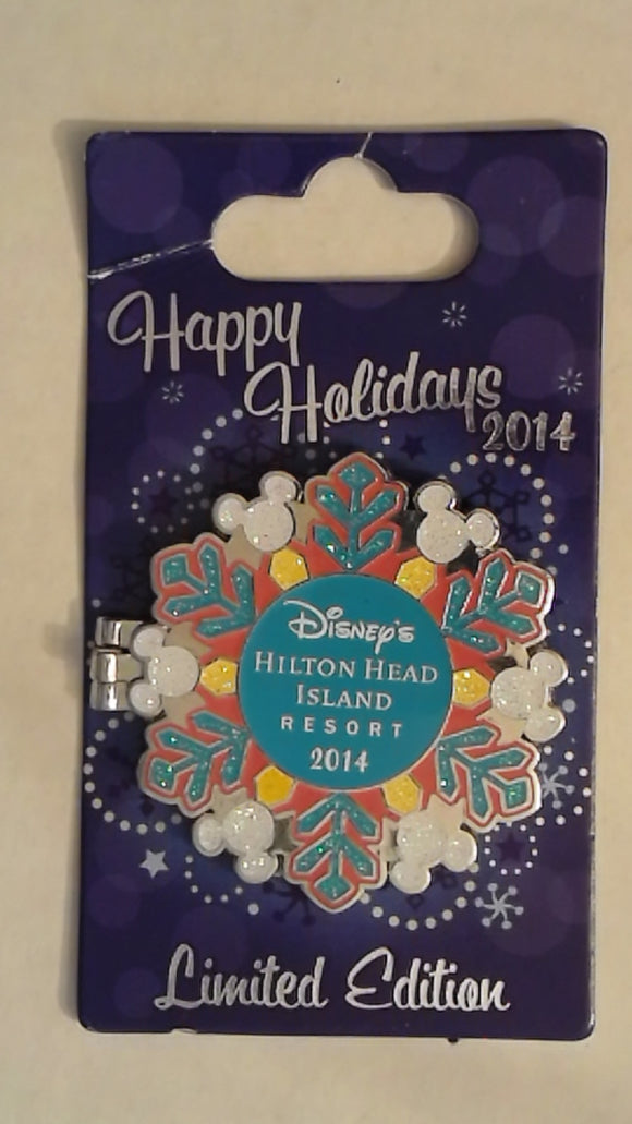 Pin 107628 WDW - Happy Holidays 2014 Snowflakes - Hilton Head Island Resort