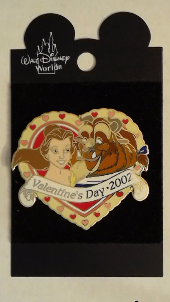 Pin 9825 DLR - Valentine's Day 2002 (Belle & Beast In Heart)