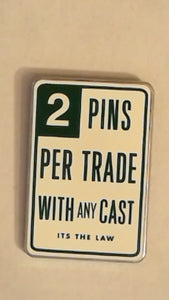 Pin 79633 WDW - Trade City, USA - Disney Pin Celebration 2010 - Road Signs - 2 Pins Per Trade with Any Cast Member It's the Law