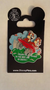 Pin 91013 DLR Cast Member Exclusive - Chip & Dale - Follow me to the best job on Earth!