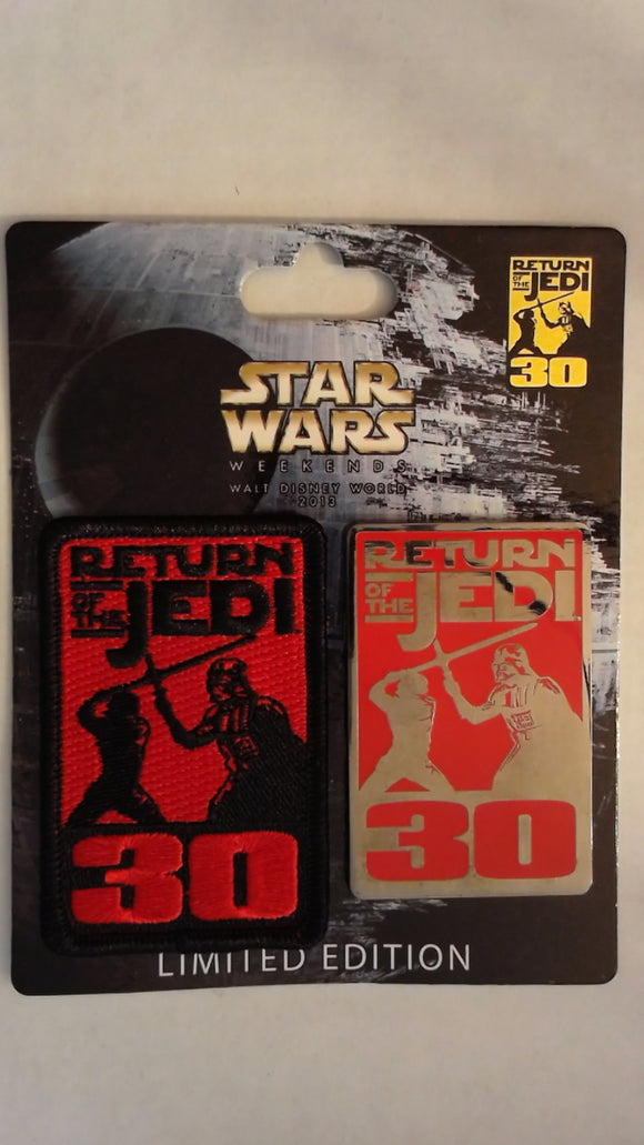Pin 96534 WDW - Star Wars Weekend 2013 - Pin and Patch Set