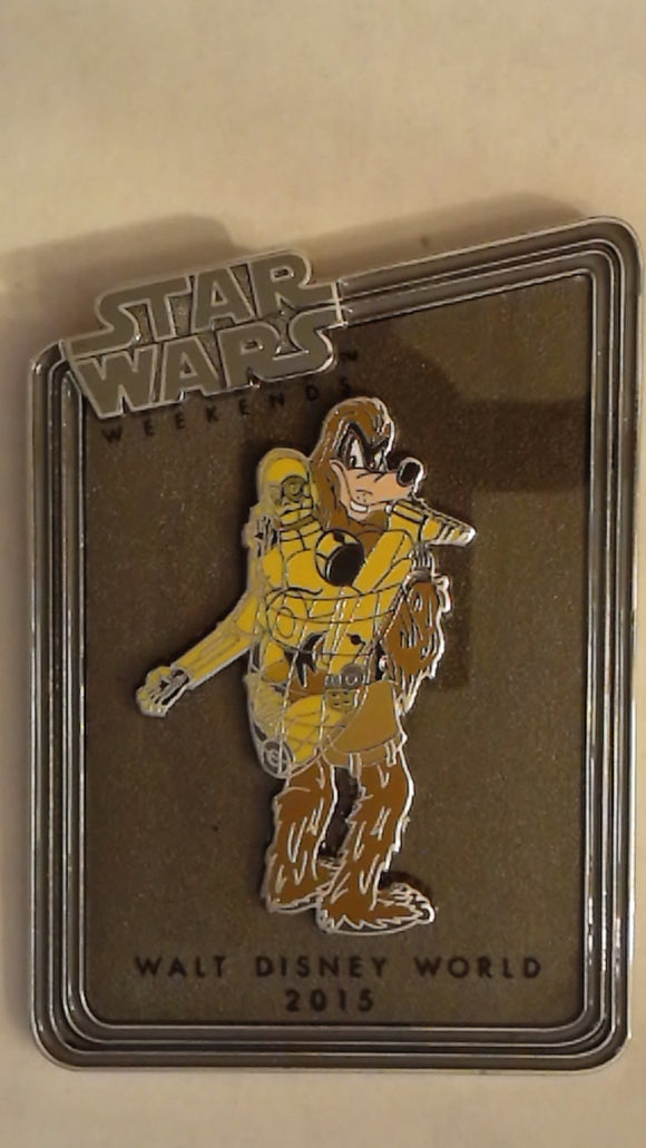 Pin 116466 WDW - Star Wars Weekends 2015 - Goofy Chewbacca with C-3PO Pin ONLY