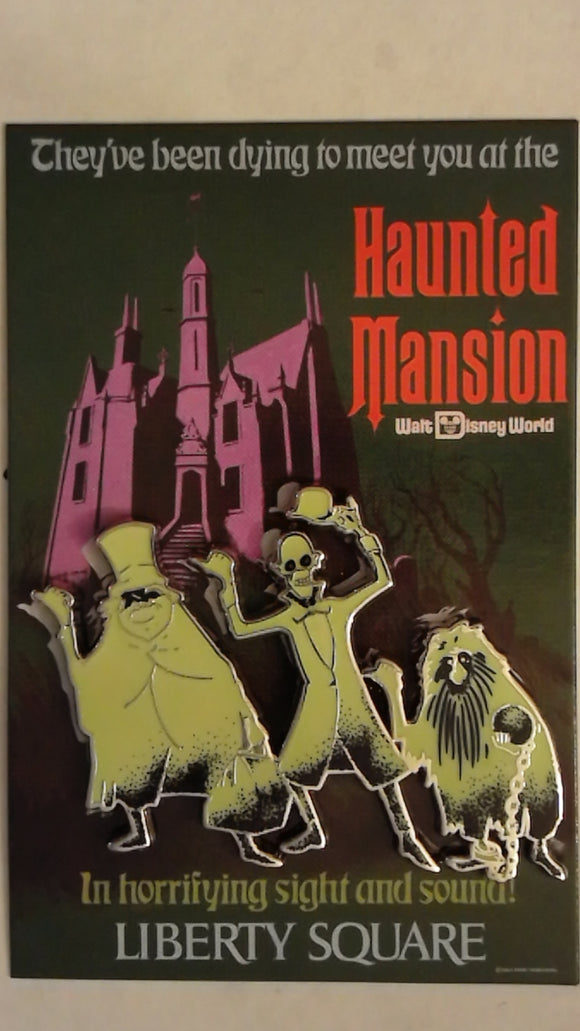Pin 74514 WDI - Hitchhiking Ghost on Haunted Mansion Poster Liberty Square
