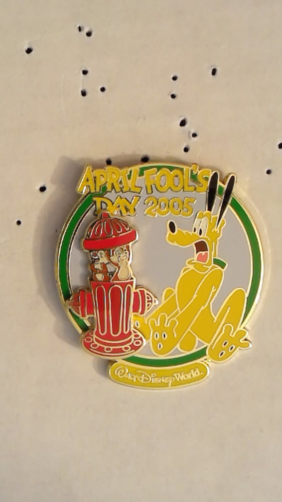 Pin 37660 WDW - April Fool's Day 2005 (Chip 'n' Dale & Pluto)