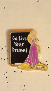Pin 108772 WDW - GenEARation D - 2015 - Disney Life Lessons - Mystery Set Box - Rapunzel Only