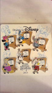 Pin 107443 DLR - Annual Passholder - Drawn to Disney Set