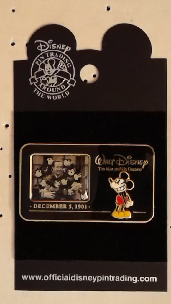 Pin 15739 WDW - The Man and His Dreams (Walt Disney & Mickey Mouse)