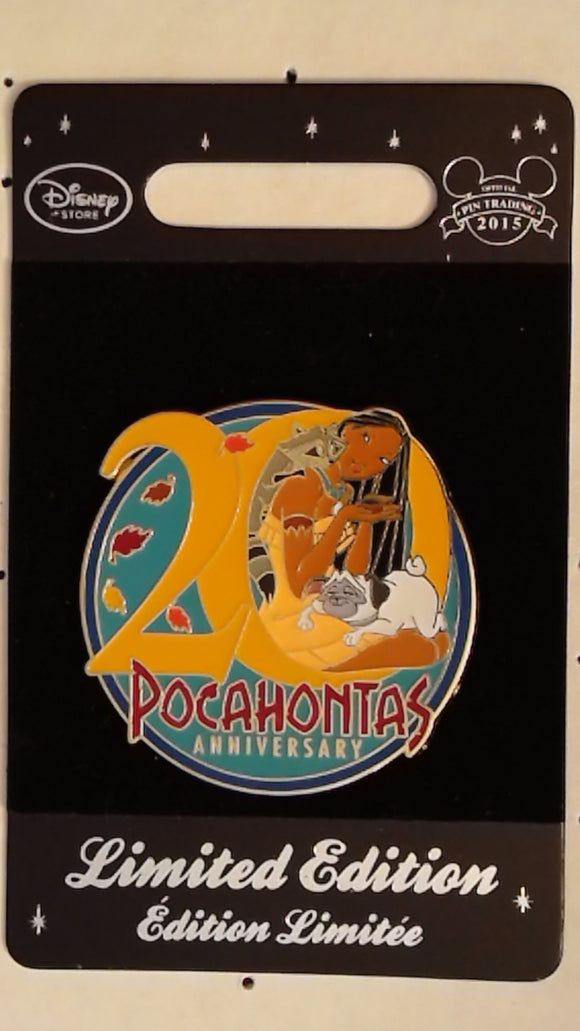 Pin 108686 DisneyStore Europe -Pocahontas 20th Anniversary Pin