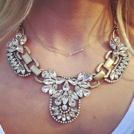 Simply Regal Statement Necklace Vintage Gold