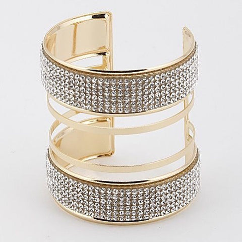 Jazzy Rhinestone Cuff Bracelet - Bracelet - Top Layer Boutique