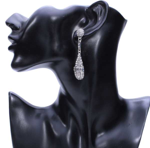 Bedazzled Mic Drop Earrings - Earrings - Top Layer Boutique