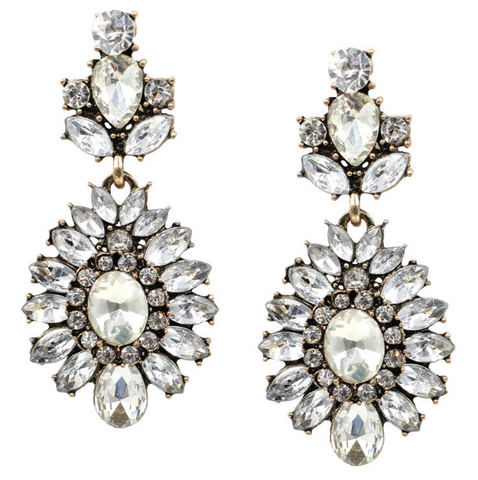 Crystal Chandelier Drop Earrings