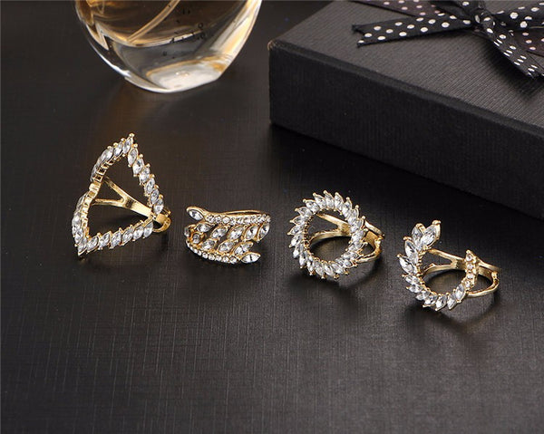 Crystal Ring Set - Ring - Top Layer Boutique