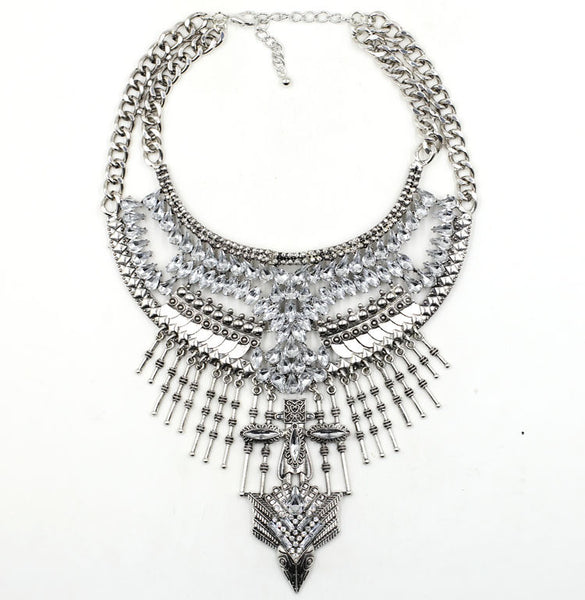 Silver Phoenix Statement Necklace - Necklace - Top Layer Boutique