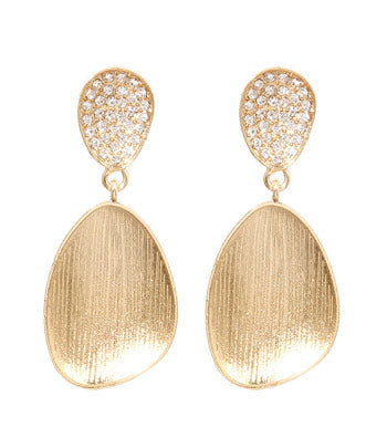 Glamour in Gold Drop Earrings - Earrings - Top Layer Boutique