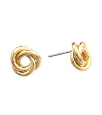 Spiral Knot Stud Earrings - Earrings - Top Layer Boutique