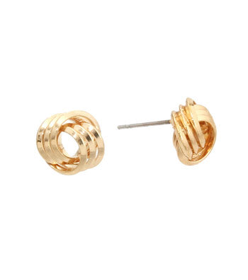 Knot Trio Stud Earrings - Earrings - Top Layer Boutique