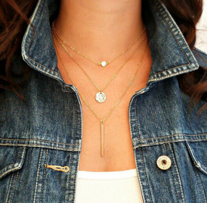 Triple Layer of Gold Necklace