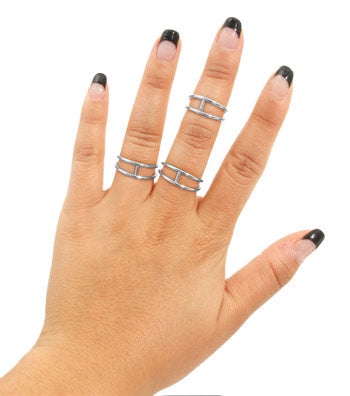 Thin Line Midi Ring Set - Ring - Top Layer Boutique