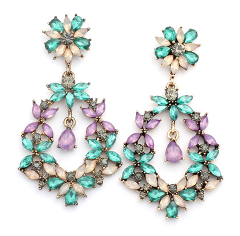 Colorful Elegance Statement Earrings - Earrings - Top Layer Boutique