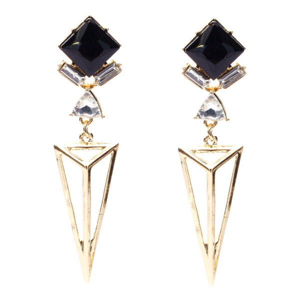 Pyramid Drop Earrings - Earrings - Top Layer Boutique