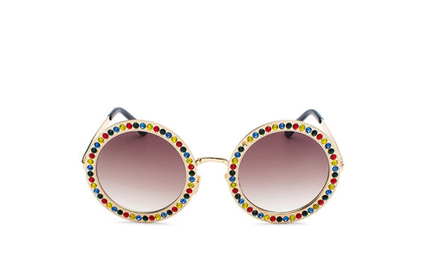 Bright Lights Round Sunglasses - Sunglasses - Top Layer Boutique
