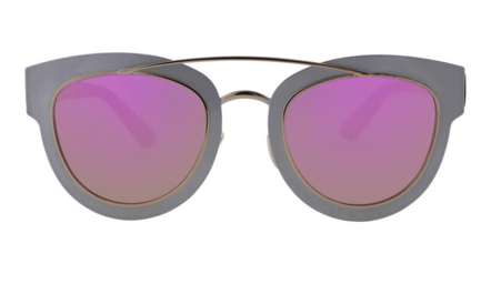 Silver Swag Sunglasses Purple Lens
