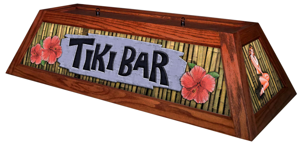 Tiki Bar Pool Table Light