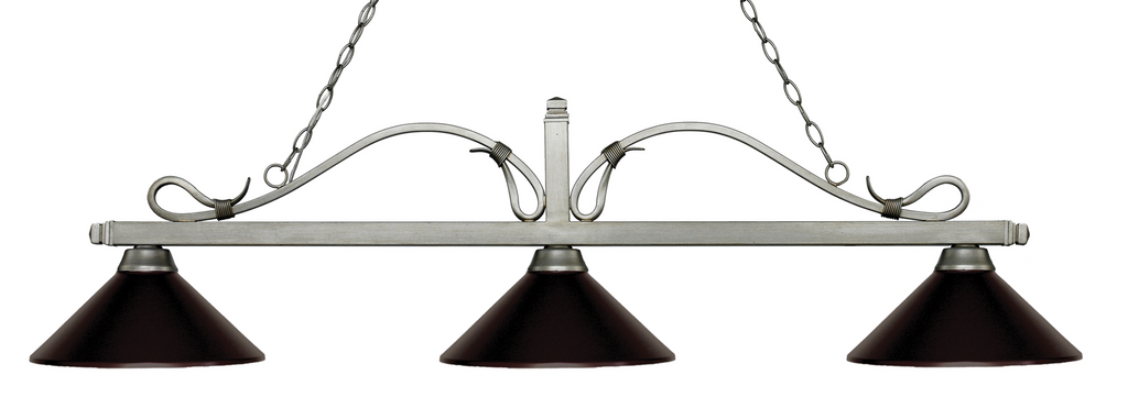 Melrose Pool Table Light Antique Silver/Bronze Shade - Gameroom Goodies Pool Table Lights