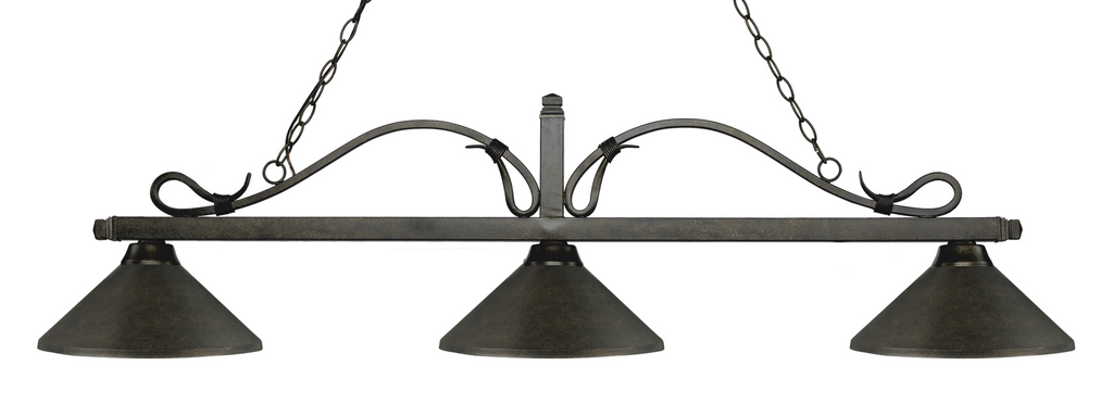 Melrose Pool Table Light Bronze - Gameroom Goodies Pool Table Lights