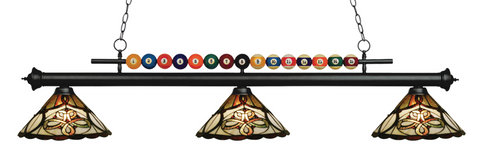 Shark Matte Black Tiffany Pool Table Light 170MB-Z14-10 - Gameroom Goodies Pool Table Lights