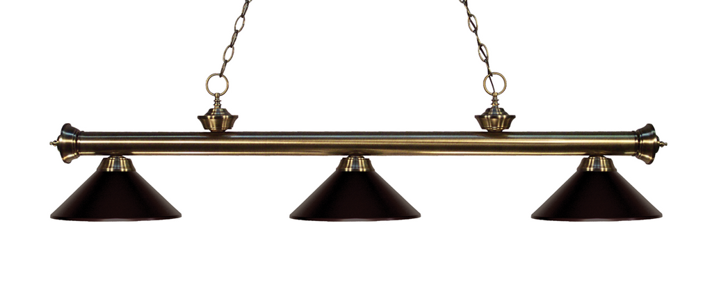 Riviera Pool Table Light Antique Brass/Bronze Shade - Gameroom Goodies Pool Table Lights