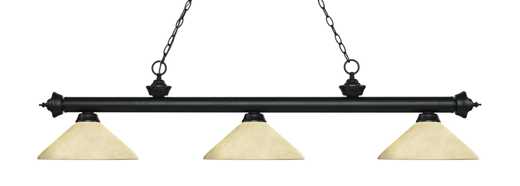 Riviera Pool Table Light Black/Angle Golden Mottle Shade - Gameroom Goodies Pool Table Lights