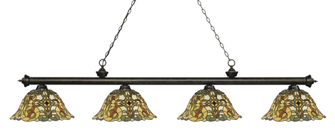Riviera Golden Bronze Tiffany 4 Shade Pool Table Light 200-4GB-R14A - Gameroom Goodies Pool Table Lights