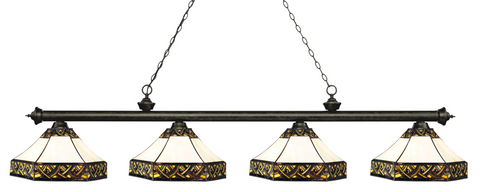 Riviera Golden Bronze Tiffany 4 Shade Pool Table Light 200-4GB-Z16-30 - Gameroom Goodies Pool Table Lights