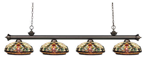 Riviera Olde Bronze Olde Bronze Tiffany Pool Table Light 200-4OB-Z14-34 - Gameroom Goodies Pool Table Lights