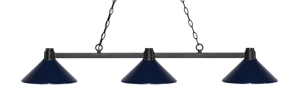 Park Pool Table Light Bronze/Navy Blue Shade - Gameroom Goodies Pool Table Lights