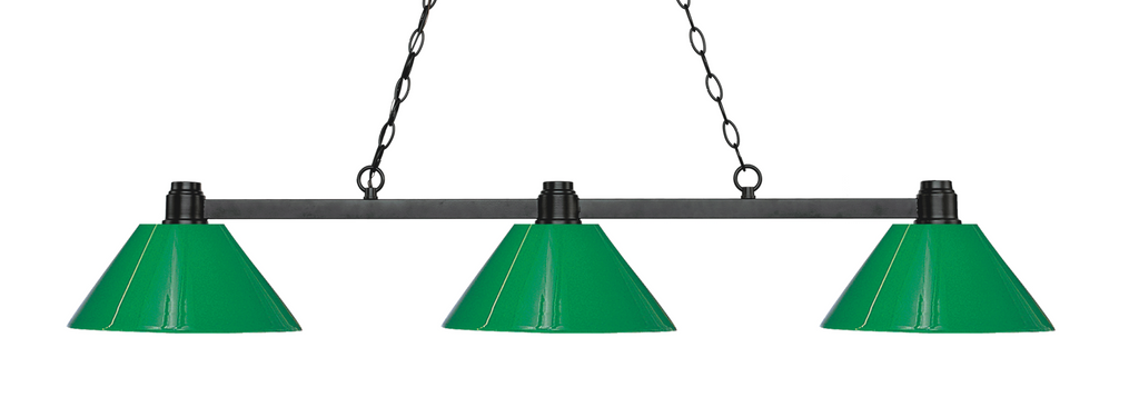 Park Pool Table Light Bronze/Green Shade - Gameroom Goodies Pool Table Lights