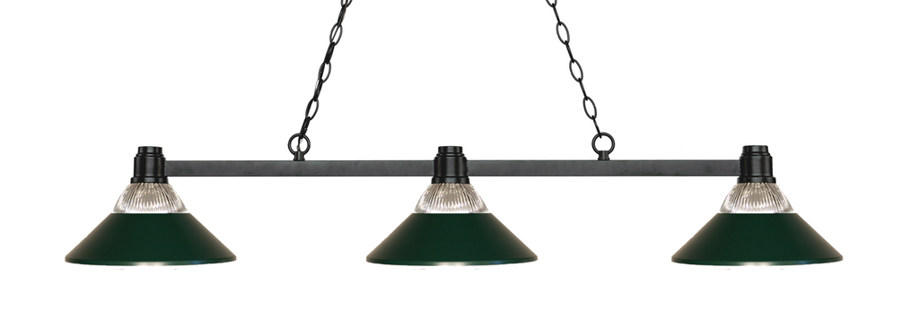 Park Pool Table Light Bronze/Glass & Dark Green Shade - Gameroom Goodies Pool Table Lights