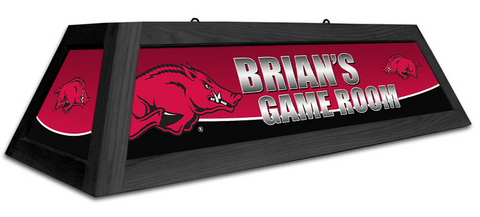 Arkansas Razorbacks Custom Pool Table Light - Gameroom Goodies Pool Table Lights