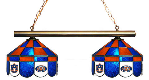 Auburn Tigers Stained Glass 2-Light Executive Game Table Light - Gameroom Goodies Pool Table Lights