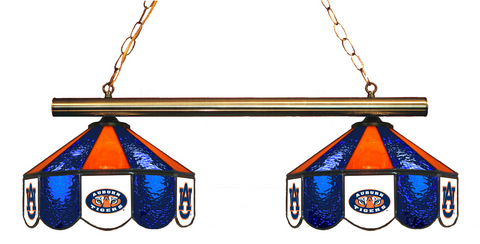 Auburn Tigers Stained Glass 2-Light Game Table Light - Gameroom Goodies Pool Table Lights