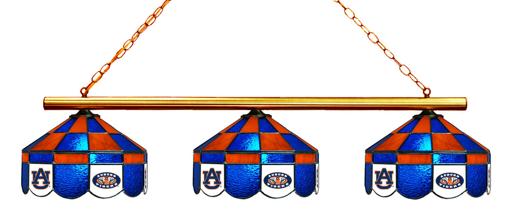 Auburn Tigers Stained Glass 3-Light Executive Game Table Light - Gameroom Goodies Pool Table Lights