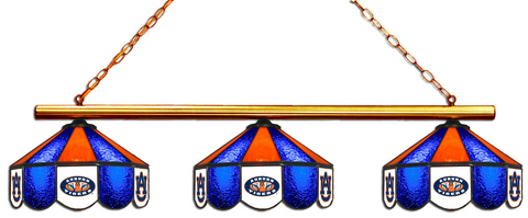 Auburn Tigers Stained Glass 3-Light Game Table Light - Gameroom Goodies Pool Table Lights