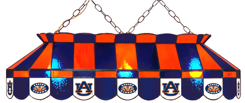 Auburn Tigers Stained Glass Pool Table Light - Gameroom Goodies Pool Table Lights