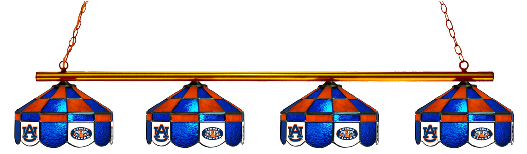 Auburn Tigers Stained Glass 4-Light Executive Pool Table Light - Gameroom Goodies Pool Table Lights